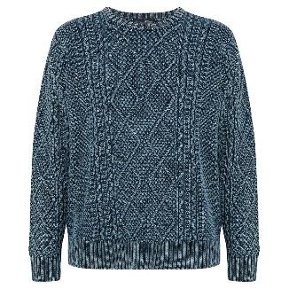Adventure aran-indigo knitwear